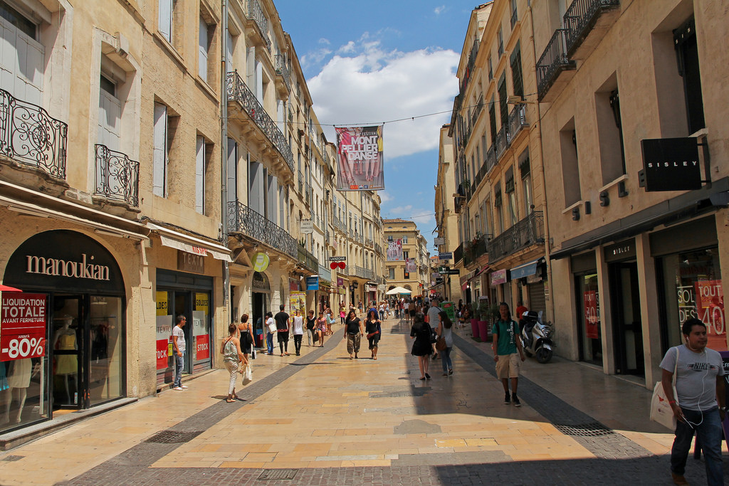 shopping montpellier southern france